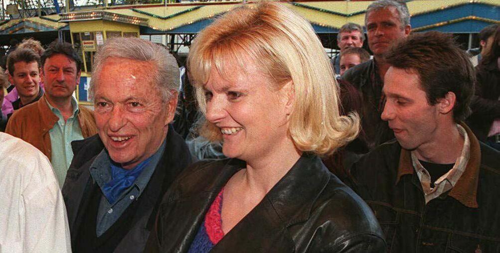 Guy Lux et Muriel Montossey à la Foire du Trône, en 1996