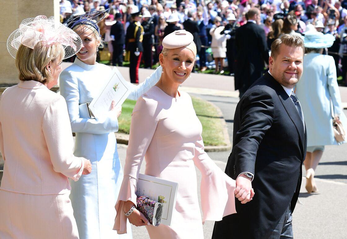 James Corden et sa femme au mariage de Meghan Markle et du prince Harry le 19 mai 2018