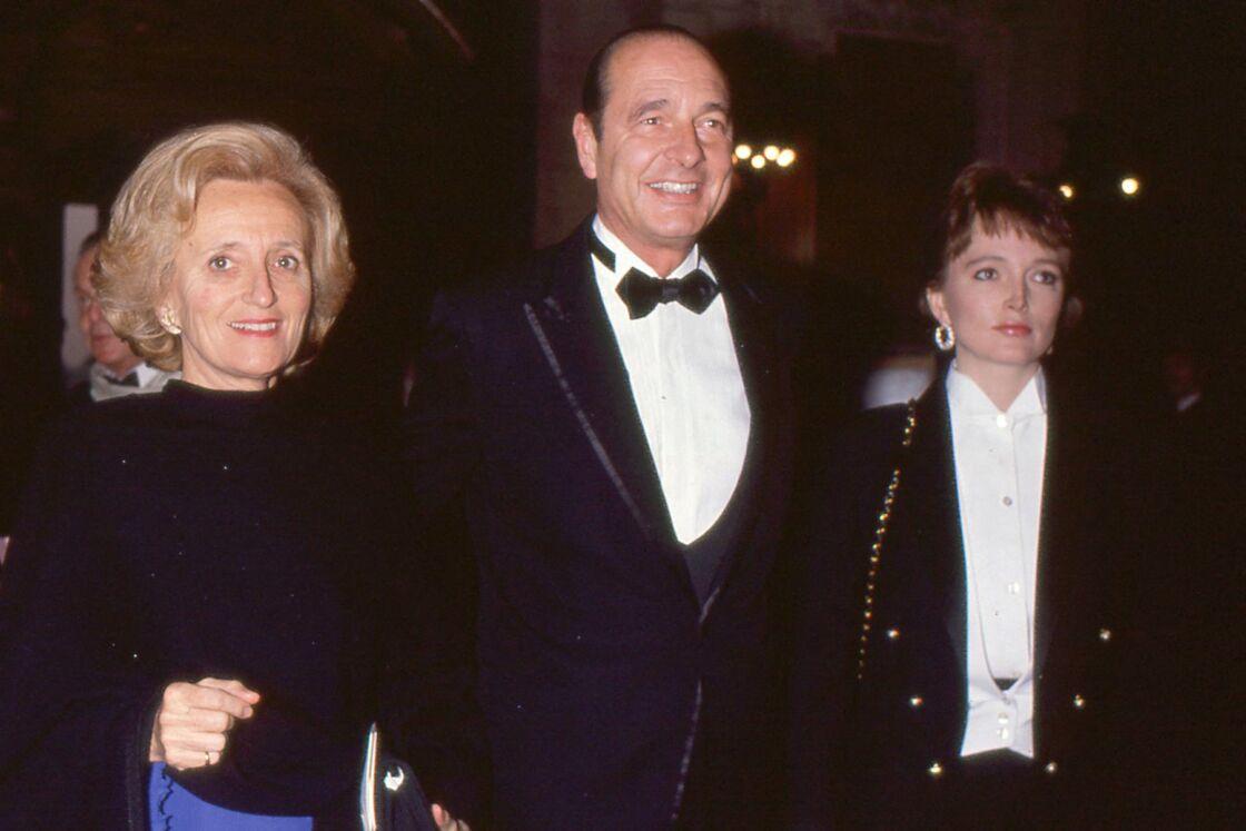 Bernadette, Jacques et Claude Chirac à Paris en 1989