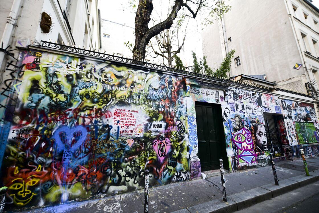 La maison de Serge Gainsbourg dans le quartier Saint-Germain au 5bis Rue de Verneuil à Paris