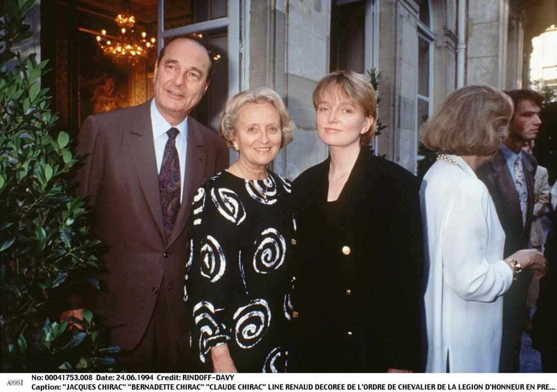 Jacques, Bernadette et Claude Chirac le 24 juin 1994