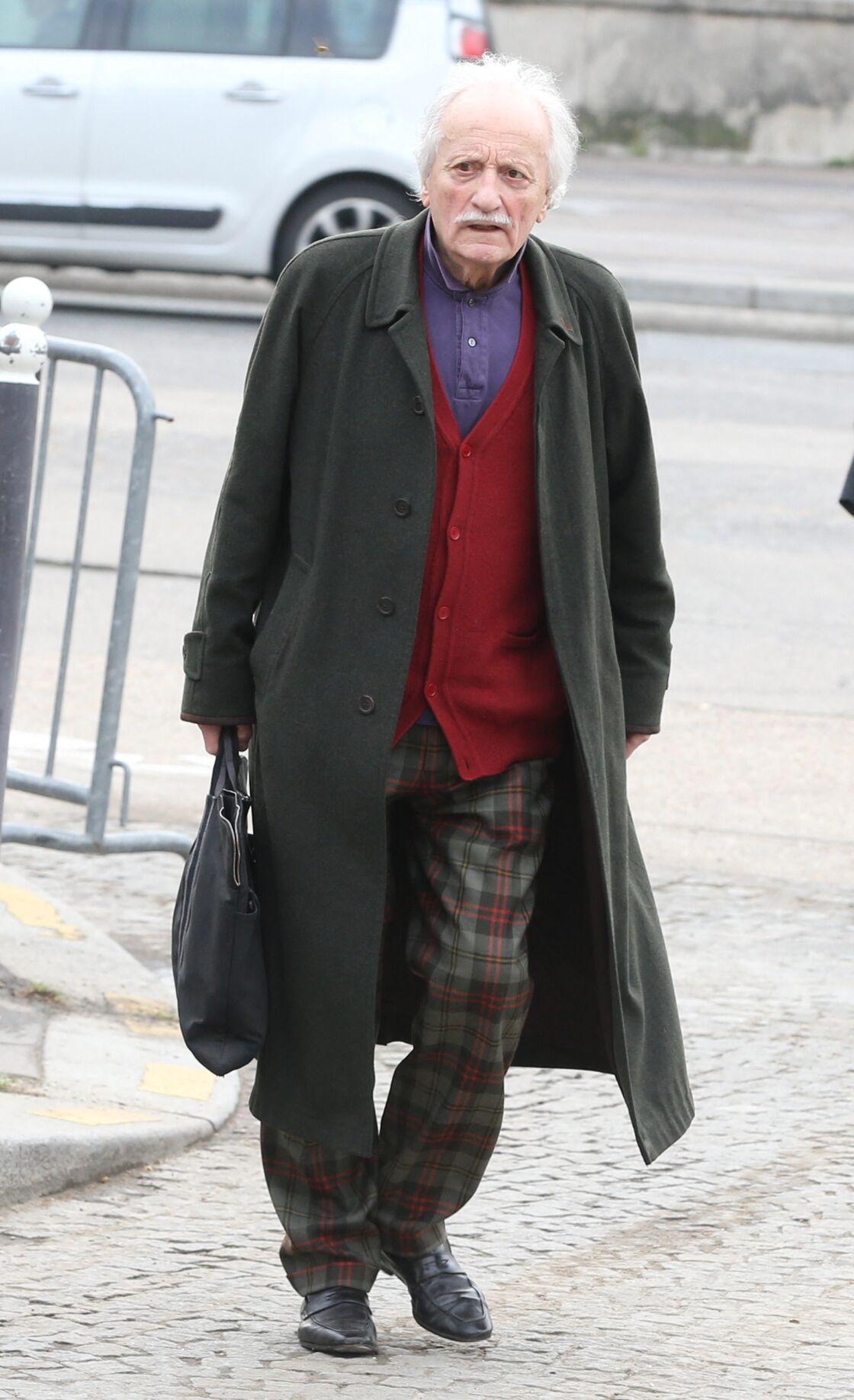 Etienne Draber aux obsèques de Véronique Colucci, le 12 avril 2018