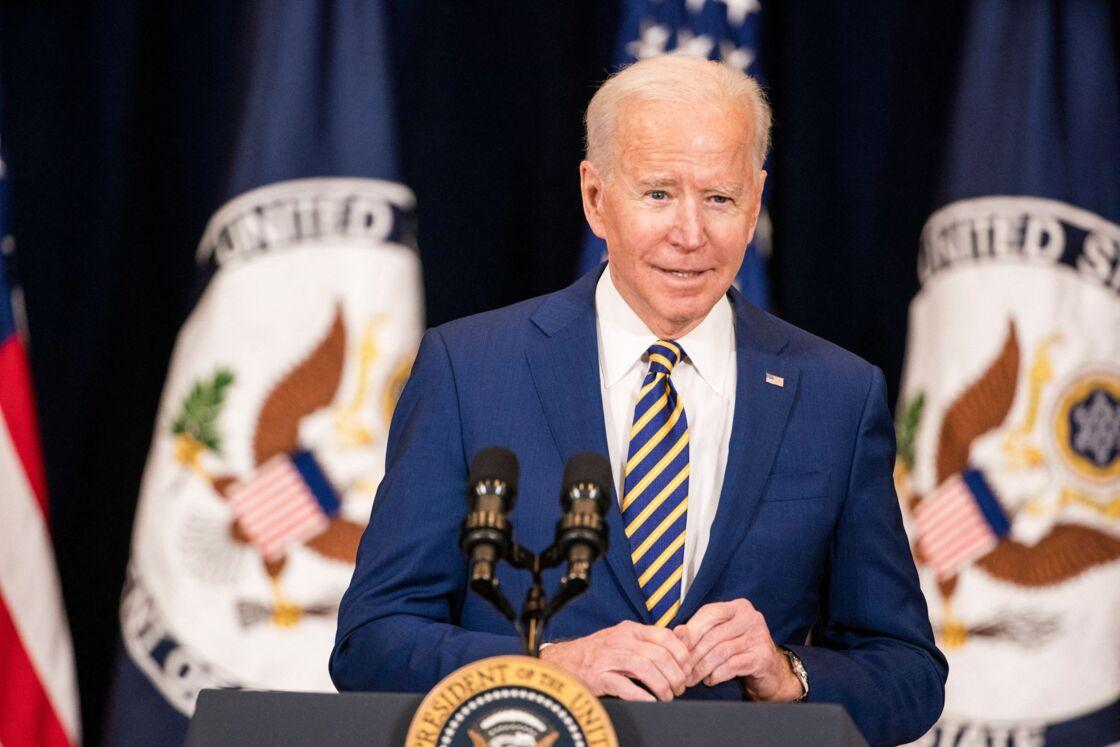Joe Biden lors d'une conférence de presse à Washington ce jeudi 4 février 2021