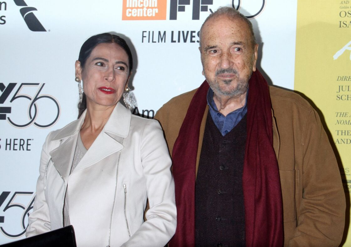 Jean-Claude Carrière et son épouse Nahal Tajadod en 2018
