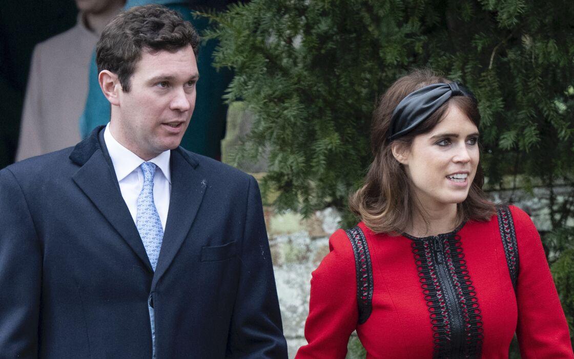 La princesse Eugénie d'York et son mari Jack Brooksbank - La famille royale britannique se rend à la messe de Noël à l'église Sainte-Marie-Madeleine à Sandringham, le 25 décembre 2018.