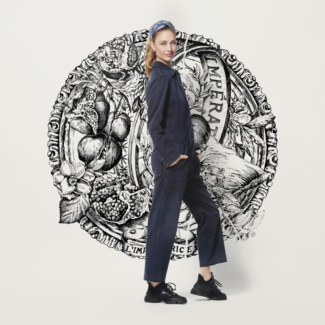 Beatrice Borromeo habillée par Maria Grazia Chiuri, lors du défilé digital Haute Couture Dior pour le printemps/été 2021