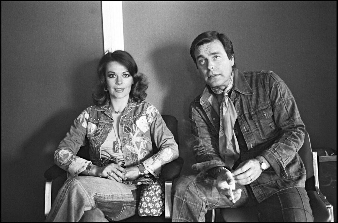 Natalie Wood et Robert Wagner au Festival de Cannes, en 1976