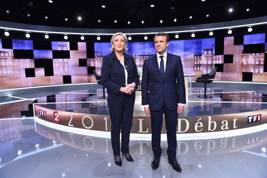 Marine Le Pen et Emmanuel Macron en 2017.