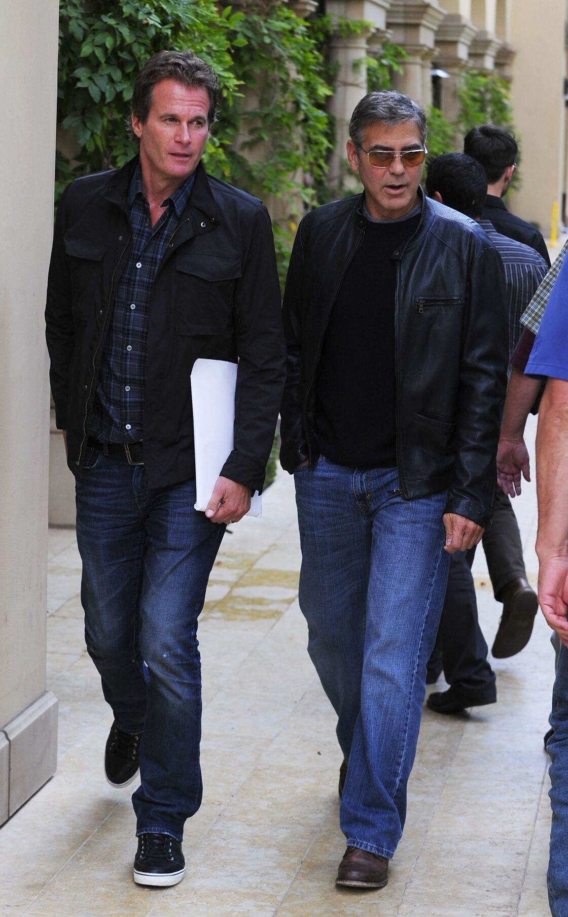 George Clooney et Rande Gerber quittent un restaurant a Beverly Hills le 11 octobre 2012