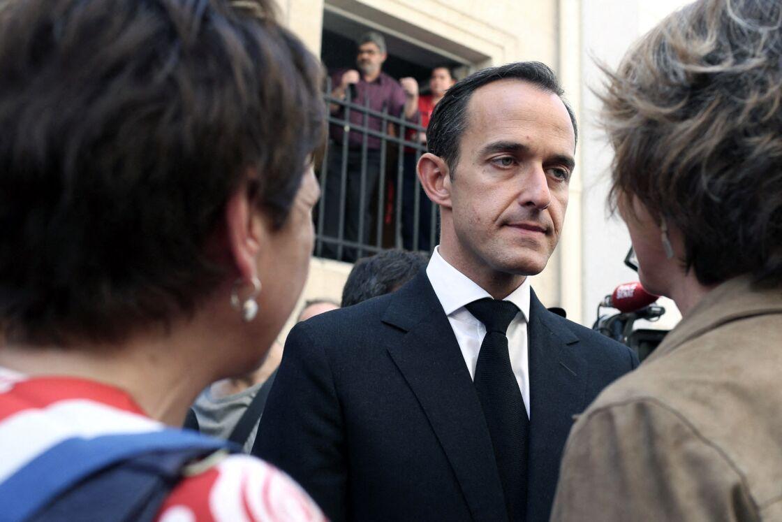 rédéric Mion, directeur de l'Institut d'Etudes Politiques de Paris lors d'un hommage à Clément Méric devant le bâtiment de Science Po à Paris le 6 juin 2013