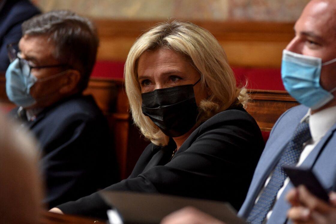 Marine Le Pen à l'Assemblée nationale le 12 janvier 2021