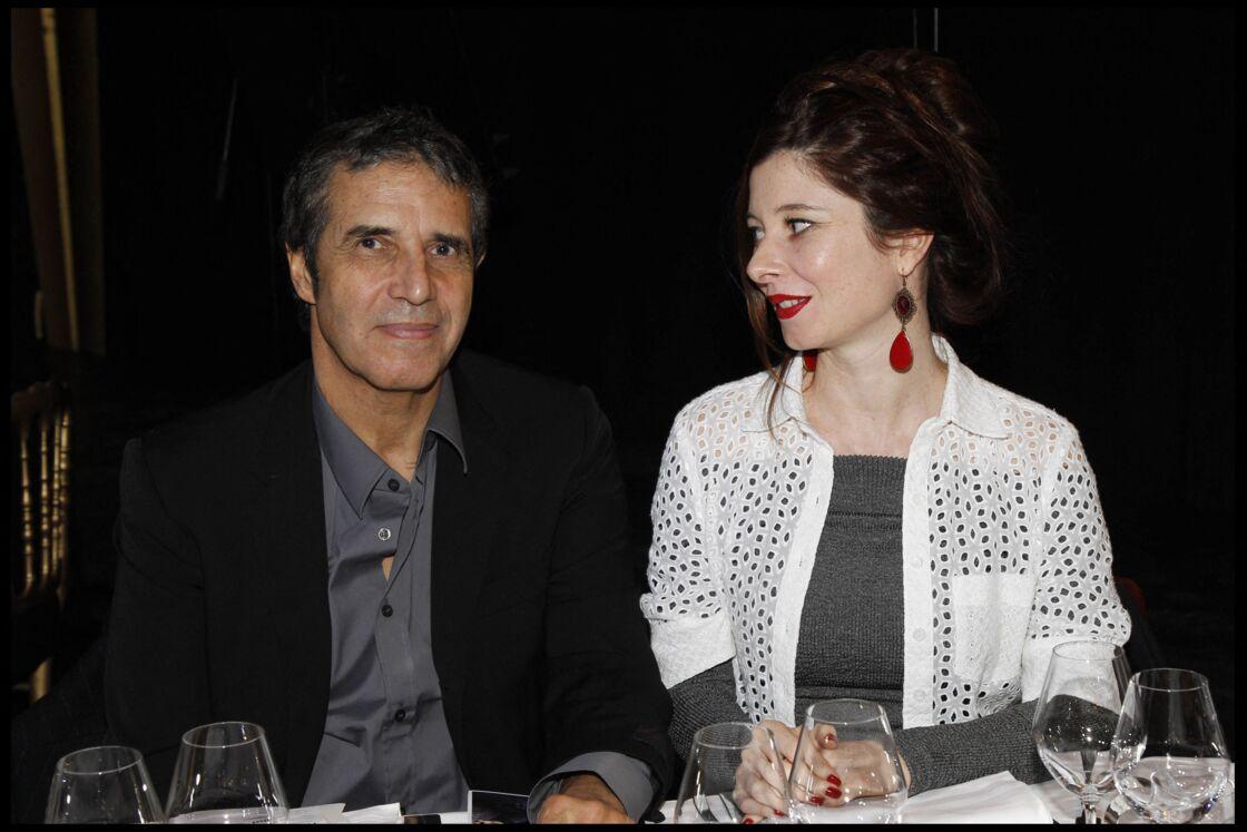 Julien Clerc et son épouse Hélène Grémillon, en 2011