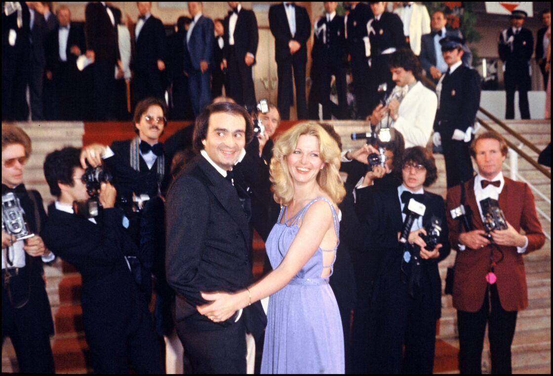 JEANE MANSON ET SON MARI ANDRE DJAOUI AU FESTIVAL DE CANNES EN 1978