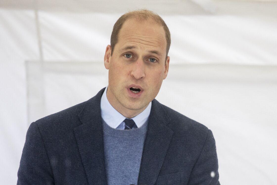 Le prince William, lors d'une rencontre avec le personnel et les patients de l'hôpital Royal Marsden, à Sutton, en octobre 2020.