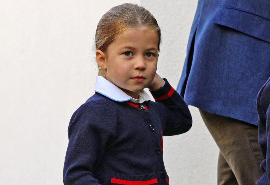 La princesse Charlotte, lors de sa rentrée des classes, en septembre 2019.