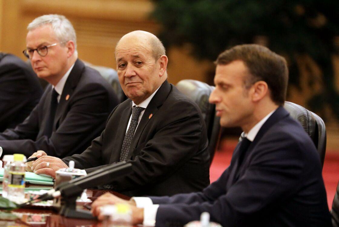 Jean-Yves Le Drian et Emmanuel Macron en 2018