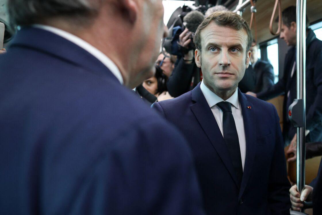 Emmanuel Macron à Pau, dans les Pyréenées-Atlantiques, le 14 janvier 2020