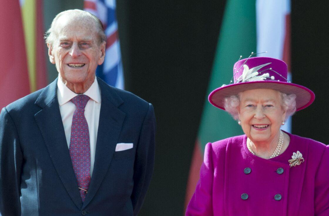 Le prince Philip et la reine Elisabeth II au lancement des jeux du Commonwealth à Londres, le 13 mars 2017