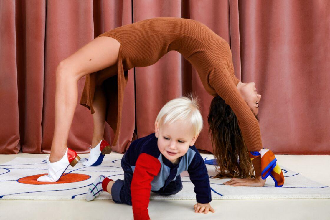 En plus de proposer un vestiaire féminin et de la décoration,  Diane Ducasse a également imaginé avec Monoprix une collection pour enfants.