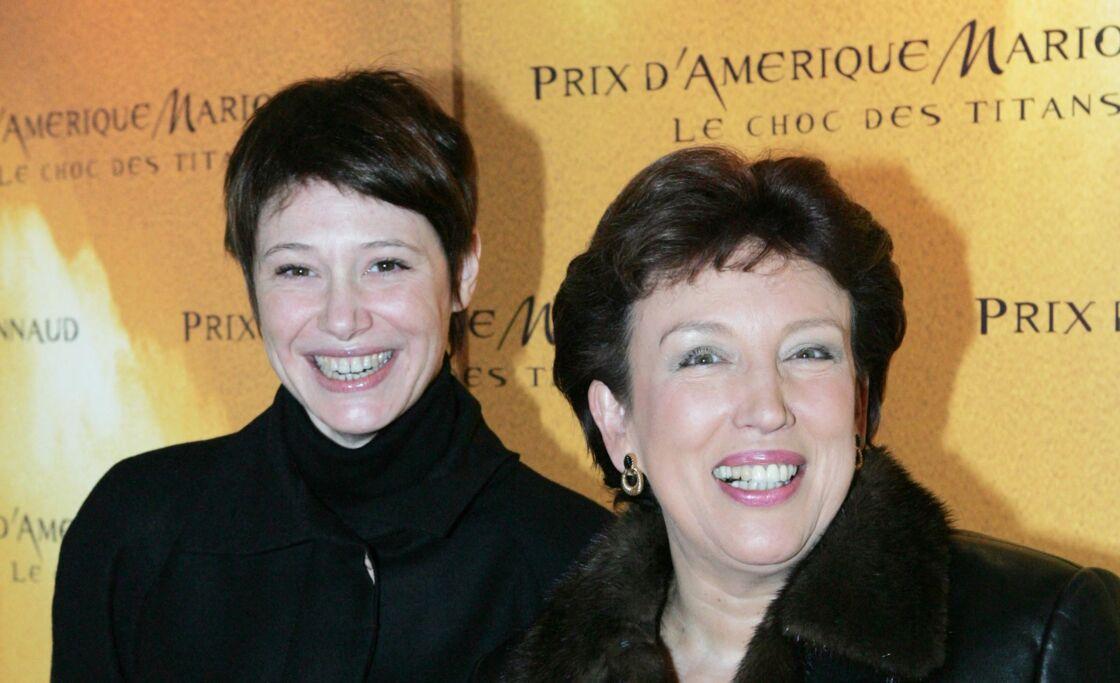 Maïtena Biraben et Roselyne Bachelot le 30 janvier 2005 à l'hippodrome de Vincennes