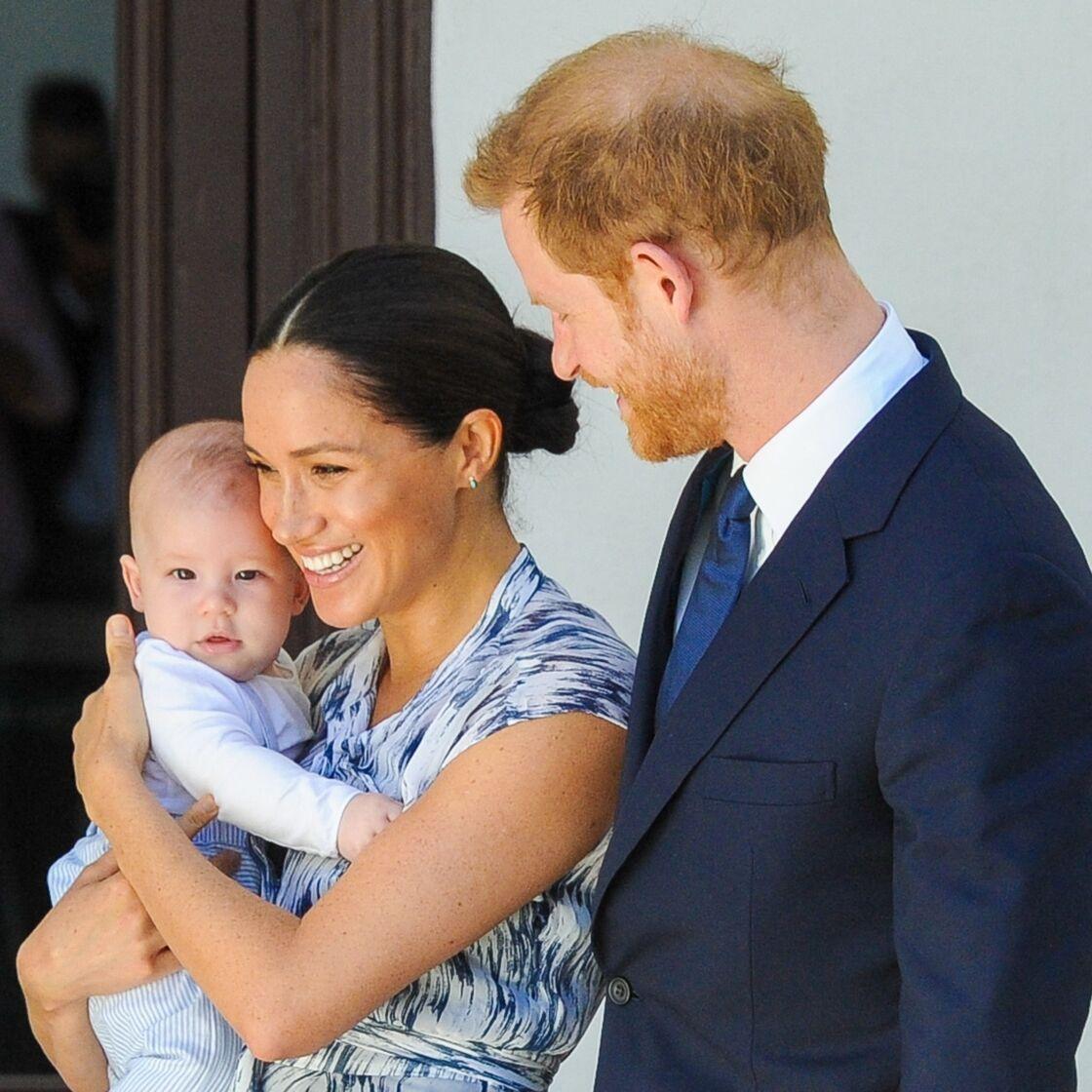 Archie fête son premier anniversaire le 6 mai - Le prince Harry, duc de Sussex, et Meghan Markle, duchesse de Sussex, avec leur fils Archie ont rencontré l'archevêque Desmond Tutu et sa femme à Cape Town, Afrique du Sud. Le 25 septembre 2019