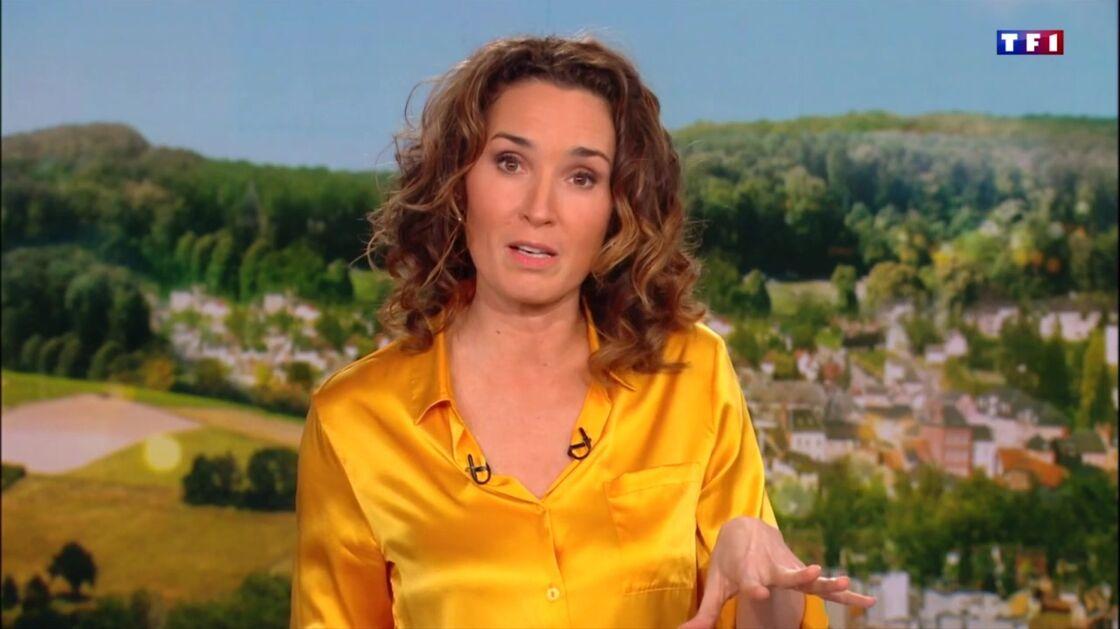 Marie-Sophie Lacarrau dans le JT de 13 Heures, le jeudi 18 février 2021.