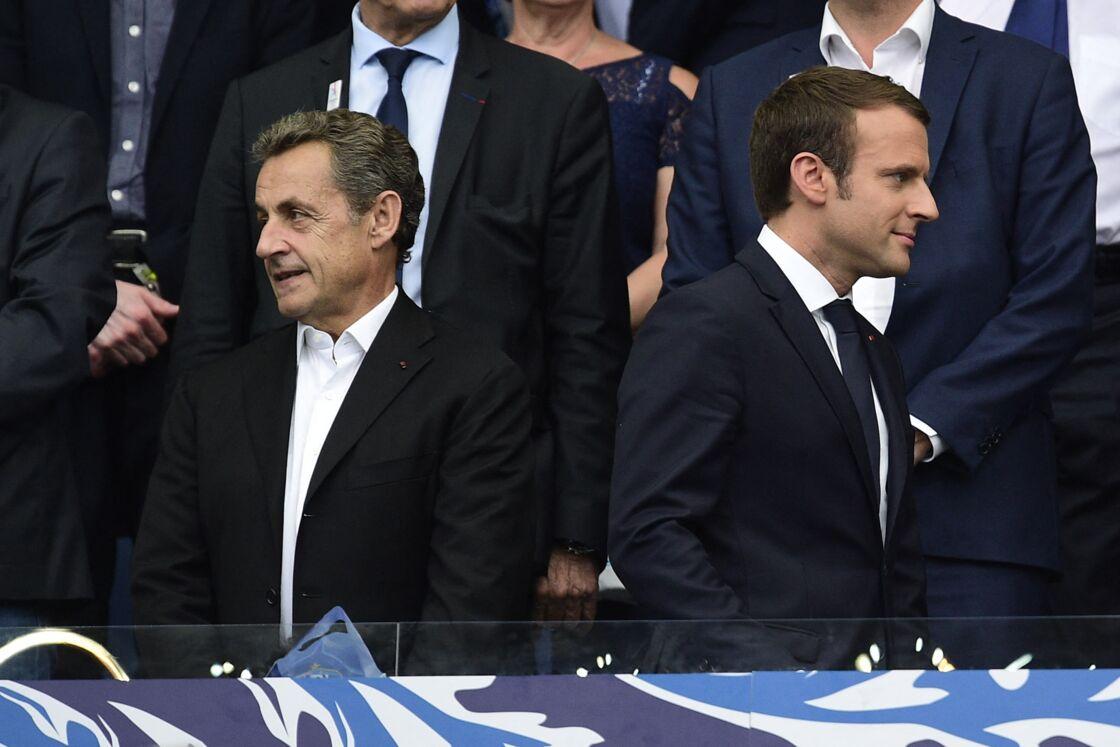Nicolas Sarkozy et Emmanuel Macron au Stade de France le 27 mai 2017