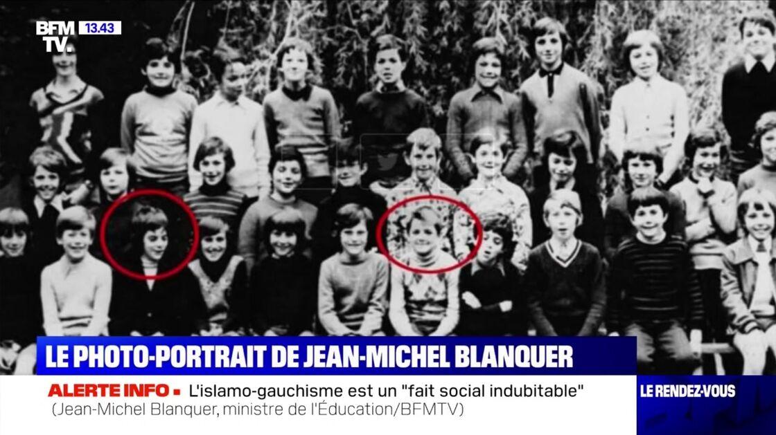 Jean-Michel Blanquer (à gauche) et François Baroin (à droite) réunis sur une photo de classe datant des années 1970.