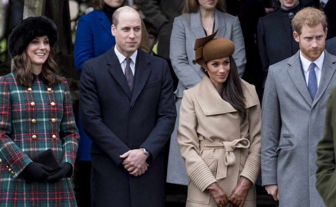 Kate Middleton, le prince William, Meghan Markle et le prince Harry, alias le