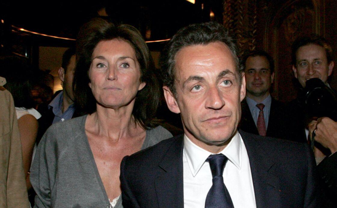 Cécilia Attias et Nicolas Sarkozy le 7 mai 2007, jour de l'élection présidentielle française