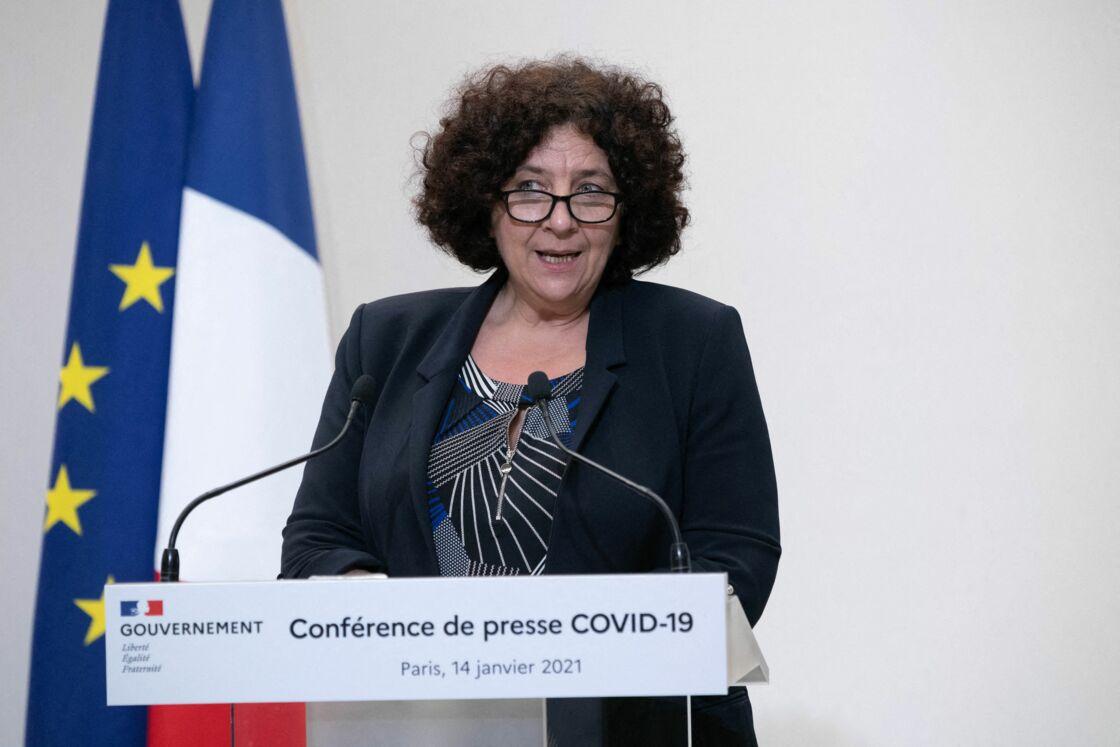 Frédérique Vidal lors d'une conférence de presse à Paris le 14 janvier 2021