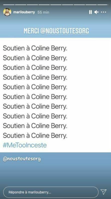 Marilou Berry n'hésite pas à afficher son soutien à Coline Berry sur les réseaux sociaux