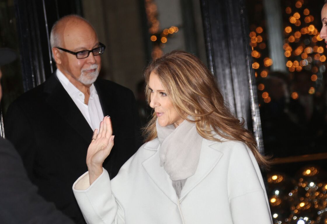 Céline Dion et son mari René Angelil en 2012