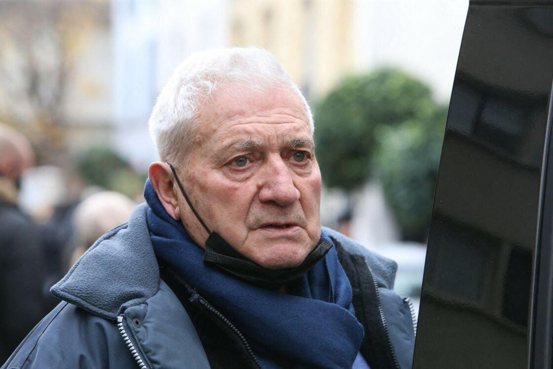Janot Dominici, lors de la cérémonie religieuse en hommage à son fils Christophe Dominici, en l'église Saint-Cécile à Boulogne Billancourt, le 2 décembre 2020.