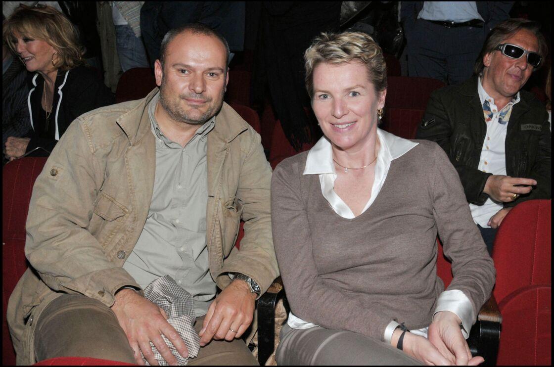 Elise Lucet et son mari Martin Bourgeois en 2008.