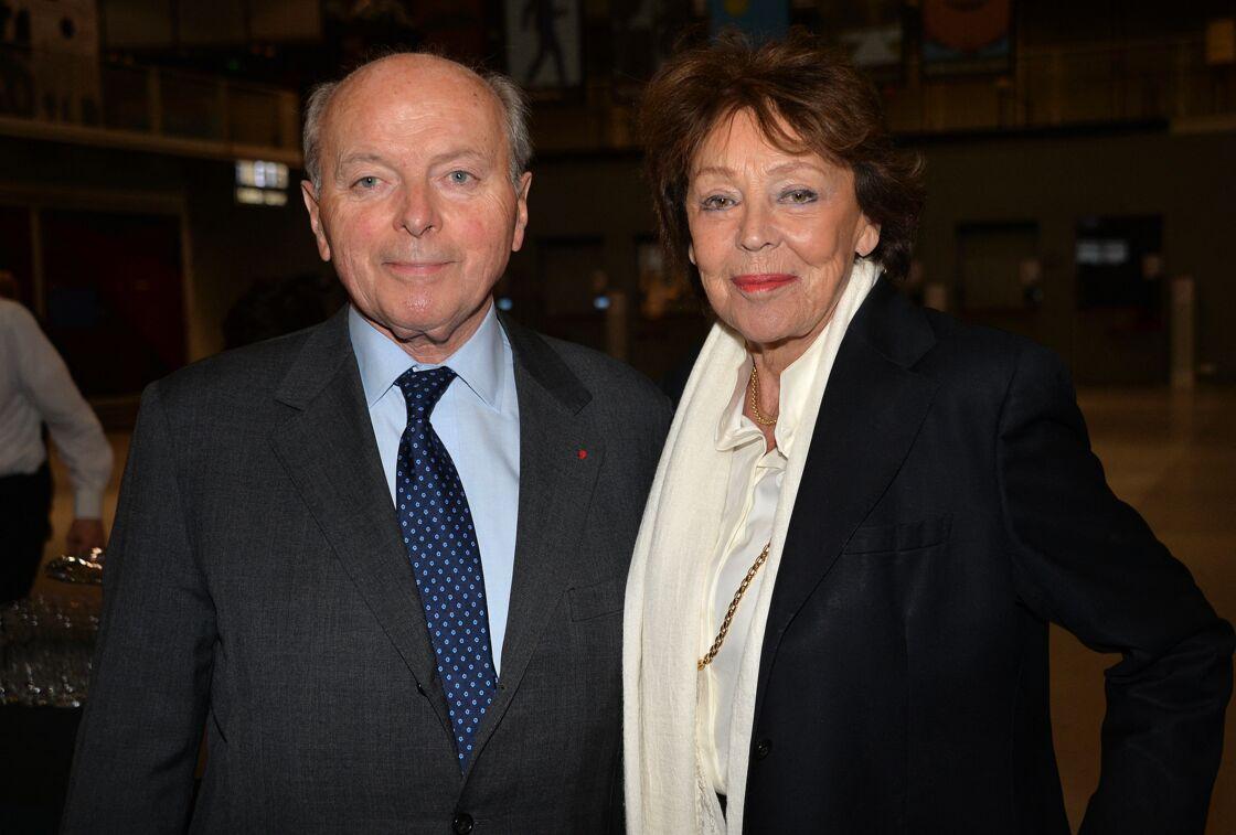 Jacques Toubon et sa femme Lise - Cocktail pour les 40 ans du Centre Georges Pompidou au centre Pompidou à Paris, France, le 10 janvier 2017.