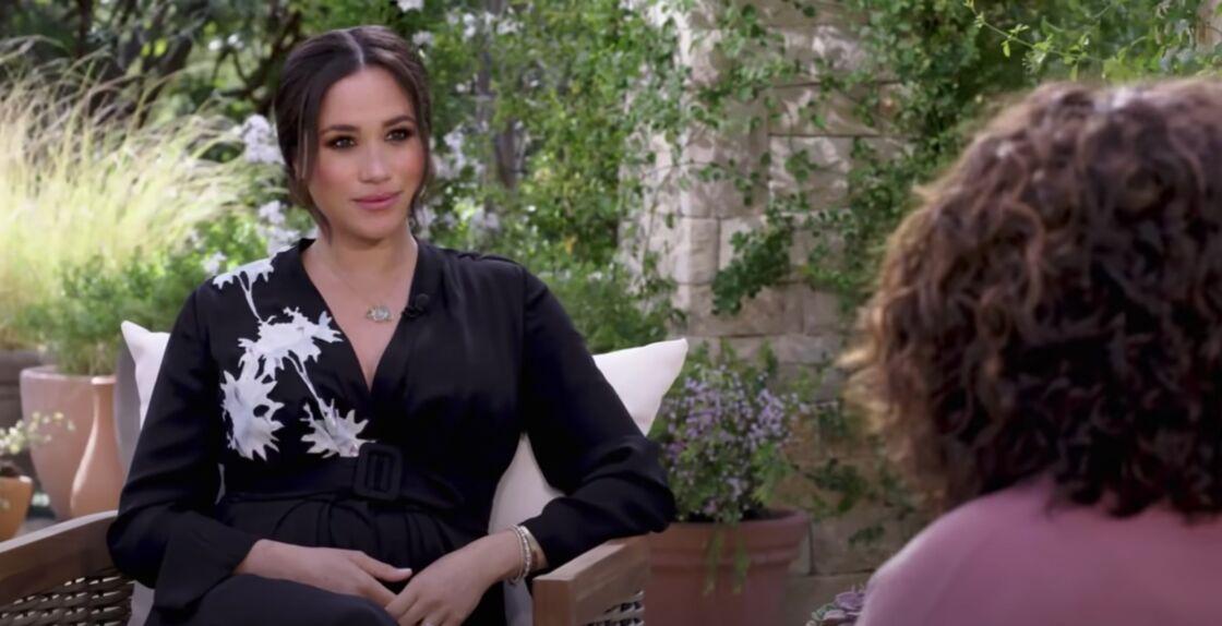 Meghan Markle, lors de son entretien avec Oprah Winfrey, diffusé le 7 mars 2021.