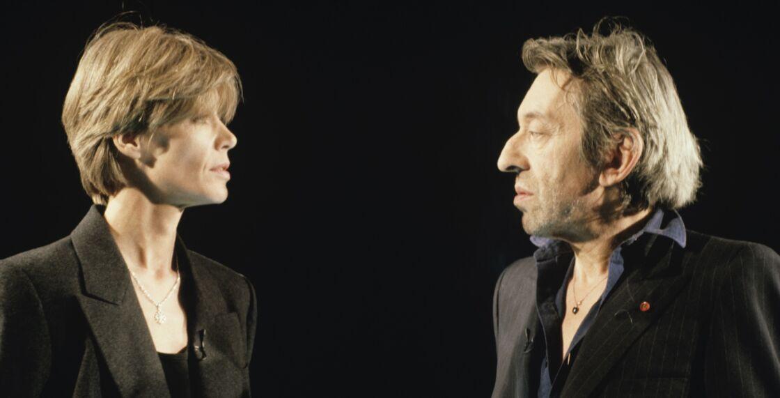 Serge Gainsbourg et Françoise Hardy en octobre 1990, sur le plateau de l'émission