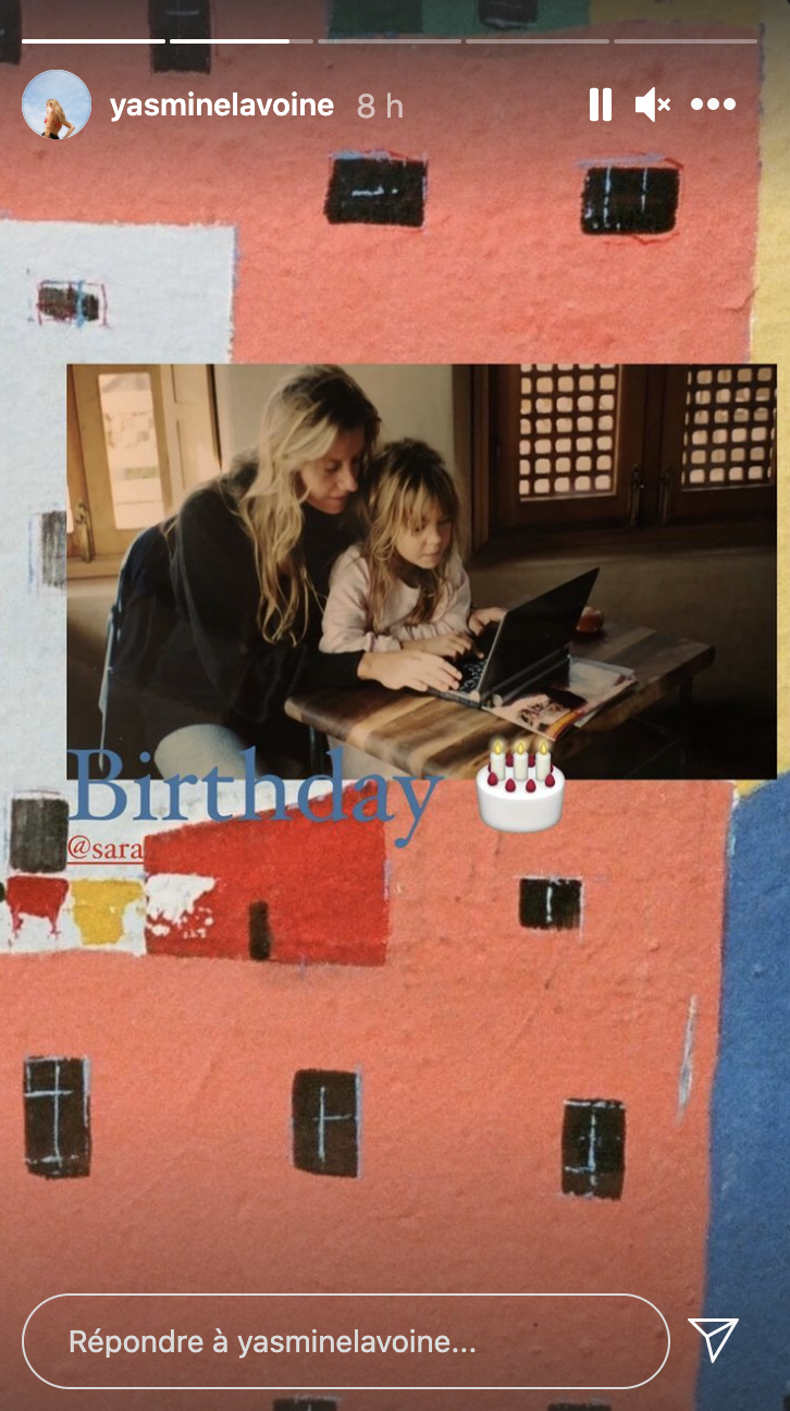 Sarah Poniatowski et sa fille, en story Instagram de Yasmine Lavoine le 3 mars 2021.