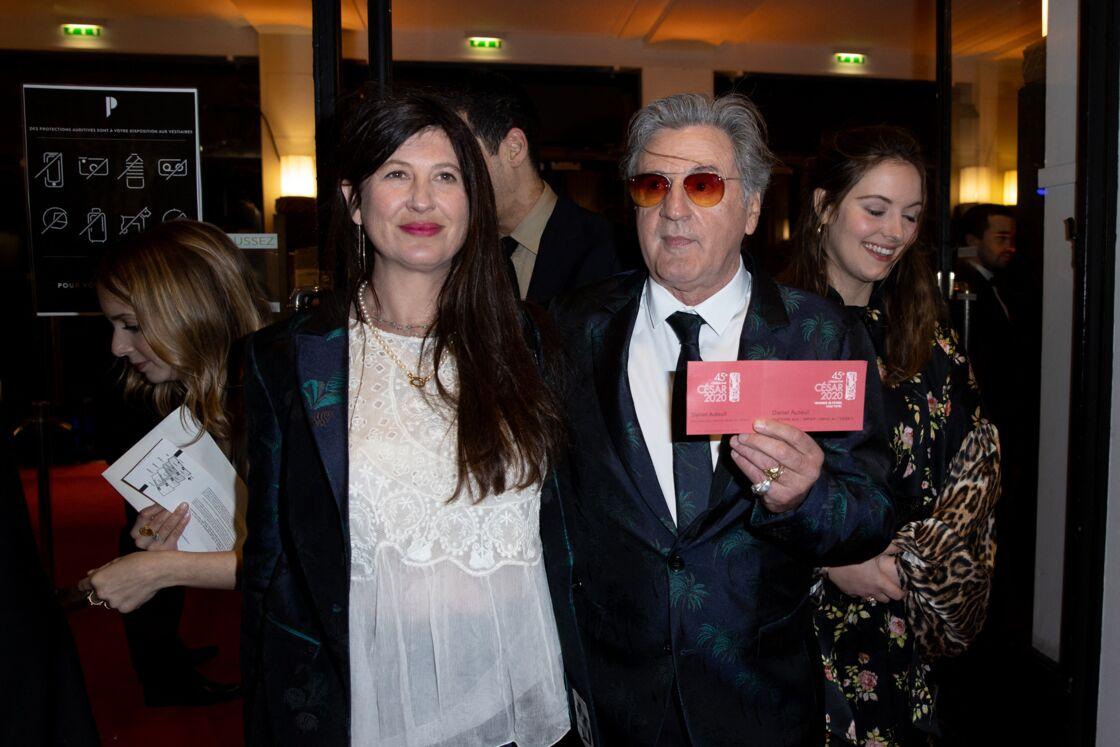 Daniel Auteuil, Aude Ambroggi - Arrivées à la 45ème cérémonie des César à la salle Pleyel à Paris le 28 février 2020.