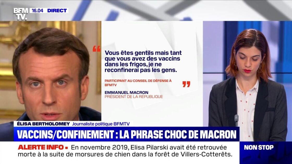 La journaliste politique Élisa Bartholomey sur l'antenne de BFMTV ce jeudi 4 mars