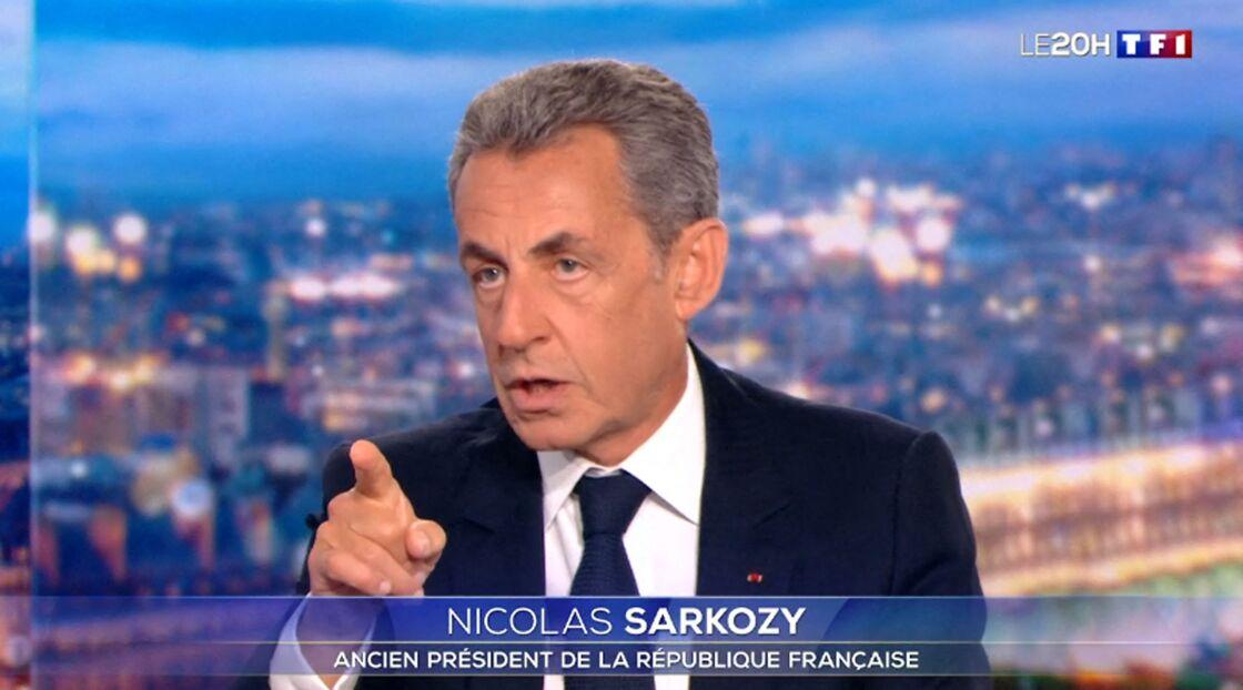 Nicolas Sarkozy sur le plateau du JT de TF1 ce mercredi 3 mars 2021