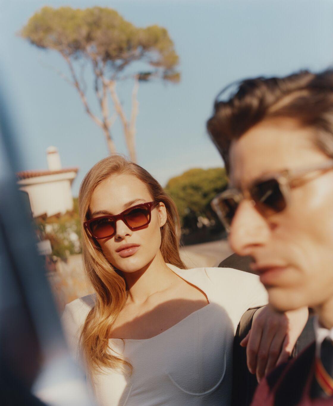 Les lunettes de soleil joliment rétro et en verres dégradés borgarde d'Ethnia Barcelona, 179€