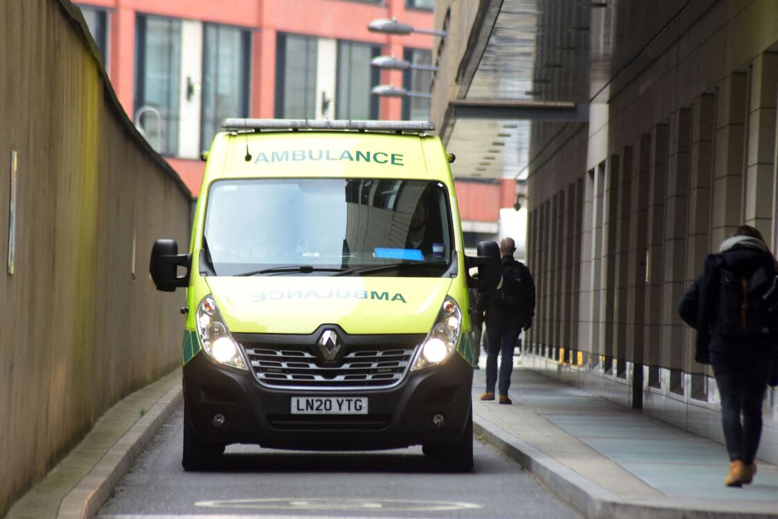 Illustration de l'hôpital public de Saint-Bartholomew où est soigné le prince Philip, duc d'Edimbourg à Londres . Le 2 mars 2021