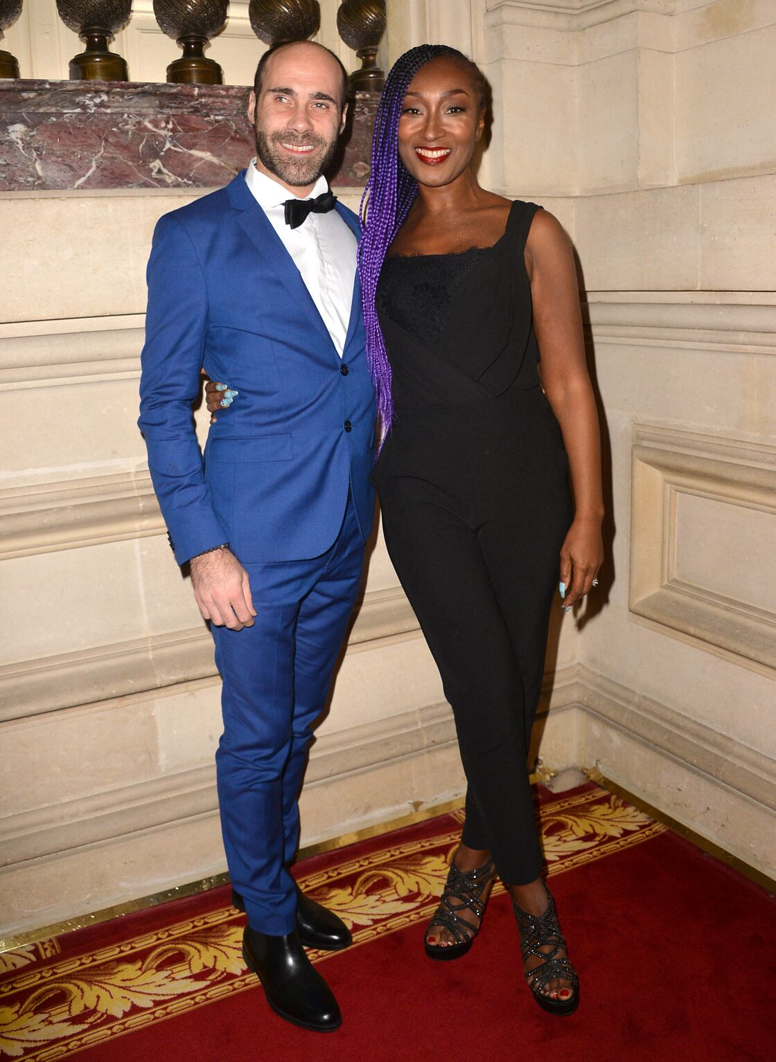 Nadege Beausson-Diagne et son mari Geoffroy Jeff Tekeyan - Gala de l'association