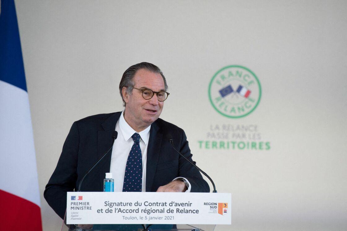 Renaud Muselier lors de la signature d'un contrat de plan État-région, le 5 janvier 2021