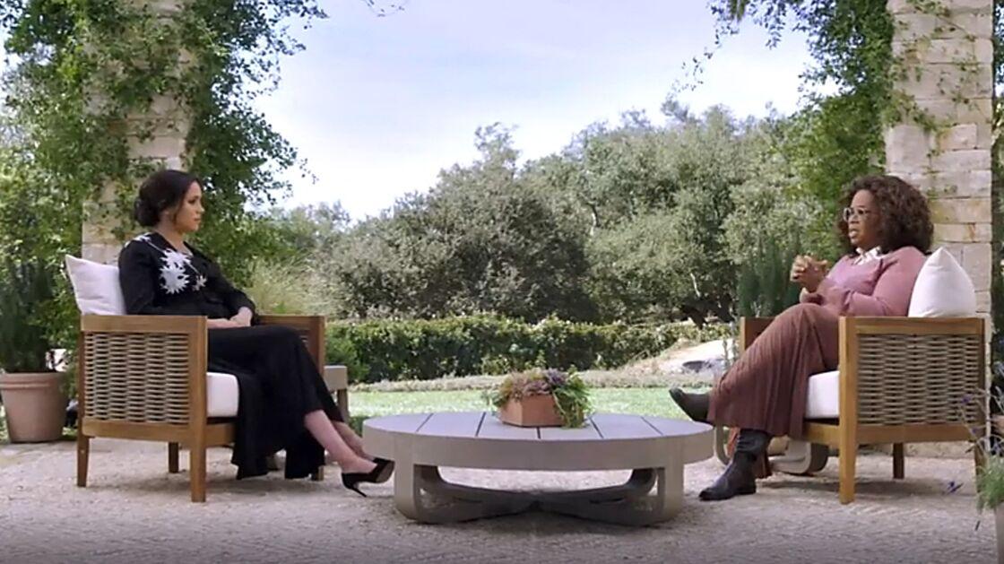 Meghan Markle et Oprah Winfrey lors de l'interview diffusée sur CBS le 7 mars 2021