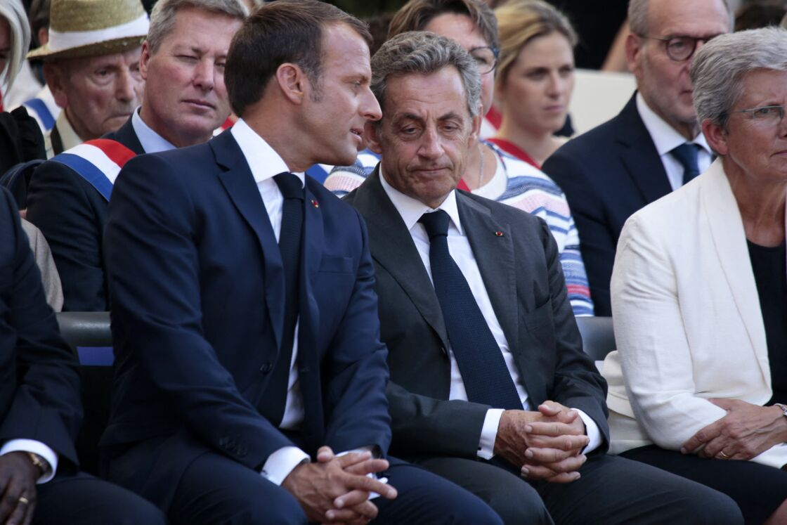 Emmanuel Macron et Nicolas Sarkozy à Saint-Raphaël le 15 août 2019