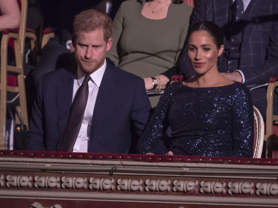 Le prince Harry, duc de Sussex, et Meghan Markle, duchesse de Sussex, enceinte, à la représentation du 10ème anniversaire du spectacle du Cirque du Soleil