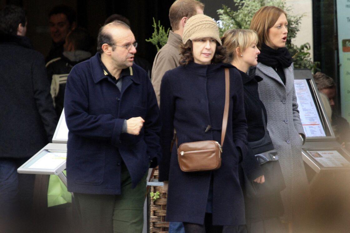Valérie Lemercier et Hervé Temime à Paris en 2008.